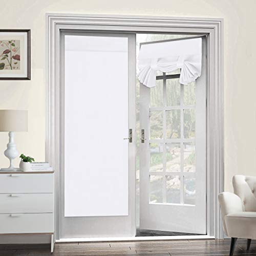 Room Darkening French Door Curtains for Tricia Window Door Curtains Thermal Curtain/Drape/Drapery Single Door Curtain (26' Width x 68' Length, Pure White, 2 Panel)