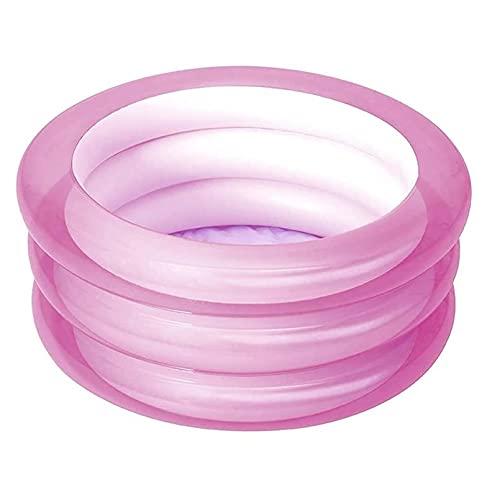SCDJK Piscinas Inflables, Piscina Inflable De Los Niños De Los Niños 70 * 30cm Niños De Verano Bañera Redonda Porp(Color:Rosa)