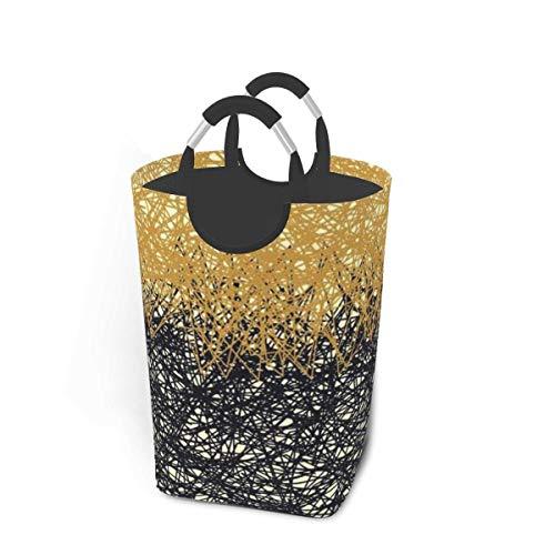 Tiffany Church Regular Overlapping Graphic Elements Medium Laundry Basket, Dorm Laundry Bag With Handles Waterproof Portable Wash