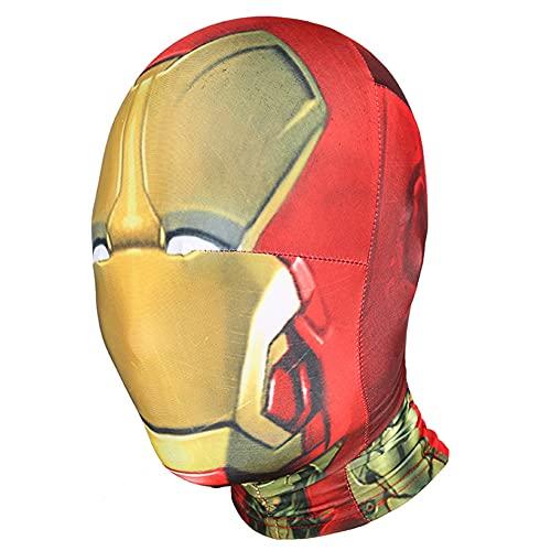 Iron Man Avengers Kids Cosplay Face Mask Filmer Fläktar Andas HeadGear Födelsedag Rollspel Party Hjälm Superhero Toys Tillbehör,Gold-Adults Free Size