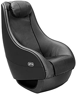 LAGRIMA Full Body Massage Chair Fully Assembled Massage Recliner PU Leather Ergonomic Lounge with Curved Long Rail 3D Shiatsu Massage Recliner (Black)