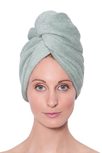 Texere Women's Bamboo Viscose Hair Towel (Tya, Lily Green, U)
