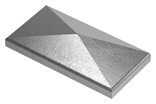 Fenau | Cache-pilier/cache poteau | Pour tube rectangulaire | Dimensions : 100x50 mm | Acier S235JR, non fini