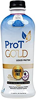 ProT GOLD - Berry Sugar Free Liquid Protein Shot - 30oz Bottle with 30 1oz Servings - Anti Aging Liquid Collagen. A Clinically Proven Nano Hydrolyzed Protein Used in Over 3000 Medical Facilities
