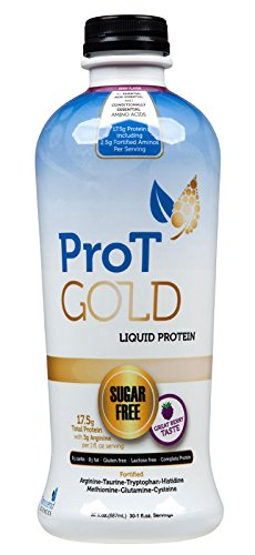ProT GOLD Berry Sugar Free Liquid Protein Shot - 30oz Anti Aging. Proven to Boost Immunity. Formula Trusted by 3,500+ Medical Facilities for Complete Protein Nutrition and Proven 2X Faster Healing