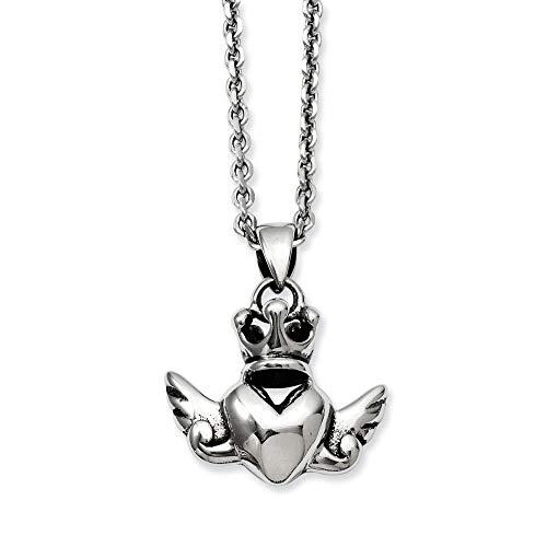 Corona de acero inoxidable con forma de corazón y alas de 50,8...