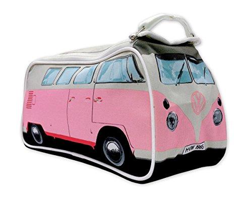 『Genuine Volkswagen Split Windscreen VW Campervan Camper Van Washbag Wash Bag Travel Bag - Pink』のトップ画像