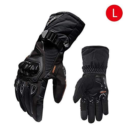 Guantes de moto de invierno impermeables y cálidos Four Seasons Riding Motocicleta Rider anti-Fall Guantes de esquí de fondo