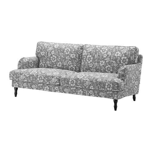 IKEA Sofa Cover, Hovsten Gray/White 1828.22011.302