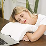 Jukkre Sleeping Pillow Slow Rebound Pressure ice Silk Memory Foam Travel Couple Arched Shaped arm U Shaped Pillow Providing Comfort and Support for The arm and Head