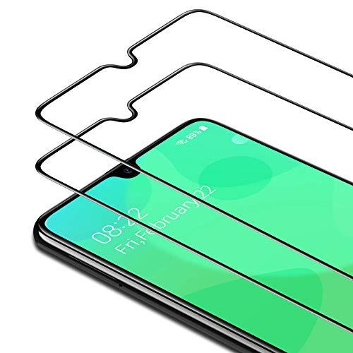 Bewahly Cristal Templado para Samsung Galaxy A30s/A50/M30S/M31/M21 [2 Piezas], Ultra Fino Completa Cobertura Protector Pantalla, 9H Dureza Vidrio Templado para Samsung A30s/A50/M30S/M31/M21 (Negro)