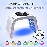 Carer, macchina portatile con luci LED in 7 colori per maschera per il viso, terapia fotodinamica ringiovanente, antirughe, anti-invecchiamento