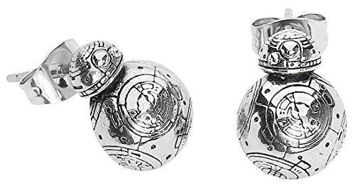 Star Wars Jewelry Pendientes unisex de acero inoxidable 3D con diseño de episodio 7