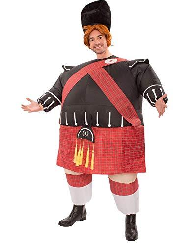 Mens Inflatable Fat Scot Bastard Tartan Novelty Funny Stag Fancy Dress Costume