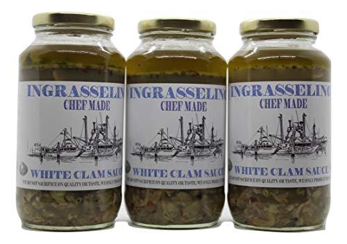 INGRASSELINO White Clam Sauce 24oz 3 pack