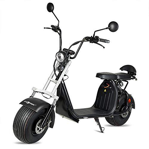 ECOXTREM Moto electrica Scooter 1200w bateria 12Ah 60v Patinete Bici Chopper City...