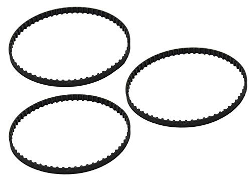 Replacement Parts Three (3) Belts for Shark Cordless Pet Perfect II 18V Vacuum SV780, SV780N, SV780 N14 (SV780N14)