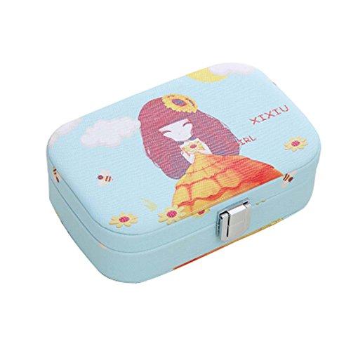 Flower Girl cosmétiques Boîte de rangement Contenants cosmétiques 12x7.7 x 3.8cm