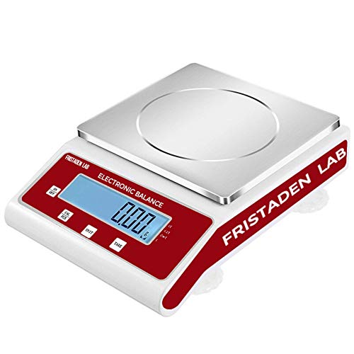 American Fristaden Lab Analytical Precision Balance 3000g x 0.01g | 01 Gram Scale Weighs Grams, Kilograms, Ounces, Pounds, Carats | Scientific Scale for Lab, Jewelry, Business | 1YR Warranty