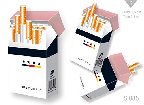 indo slipp - Zigarettenschachtel Überzieher/Hülle ohne Deckel aus Karton/für L-Schachteln (085 Deutschland Trikot, 3 Stück)