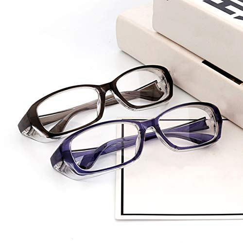 2 gafas de seguridad antivaho y antipolen para mujeres, hombres, lentes de potencia cero, protección anti UV400, gafas de seguridad HD con protectores laterales, adecuadas para la vida diaria escolar