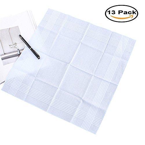 Mydio Pañuelos de algodón Blanco Puro, Finos pañuelos para Hombre: Amazon.es: Hogar