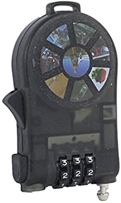 Black Luggage Strap,dezirZJjx Travel Luggage Strap Adjustable Suitcase Packing Belt with TSA Combination Lock Red