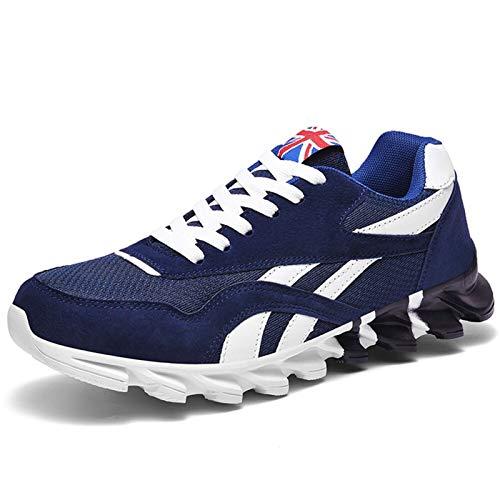 ZIJ Zapatillas de Mujer y Hombres Zapatillas Transpirables Zapatillas Deportivas al Aire Libre Moda cómoda Pareja Casual Zapatos de Gimnasio (Color : Azul, Shoe Size : '47)