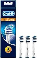 Oral-B TriZone Cabezales de Recambio, Pack de 3 Recambios Originales para Cepillos de Dientes Eléctricos, Limpieza Profunda