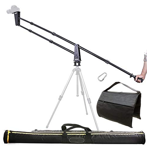 Sevenoak SK-JA20-II 7-Foot Carbon Fiber Camera Jib/Crane with 360° Panning Base and Counter Weight Sandbag for DSLR Cameras - Load Capacity 11 lb (5kg)