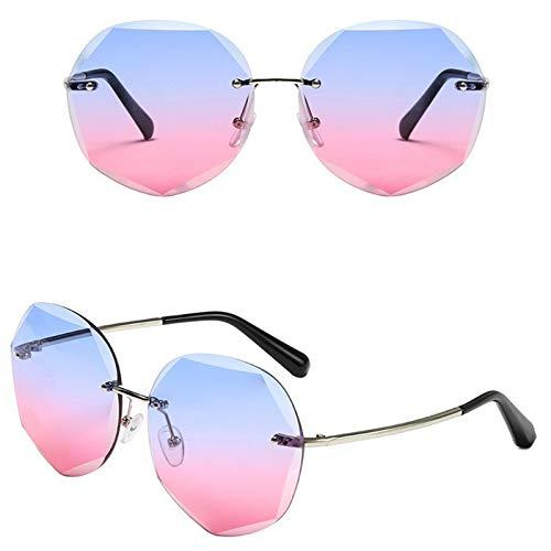 Ashtray Gafas de Sol graduadas para Mujer, Gafas de Sol sin Montura de Metal con Bordes Cortados, adecuadas para Conducir, Correr, Andar en Bicicleta, Viajar, etc,1