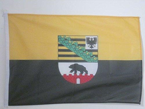 AZ FLAG BOOTFLAGGE Sachsen-Anhalt 45x30cm - Sachsen-Anhalt BOOTSFAHNE 30 x 45 cm Marine flaggen Top Qualität