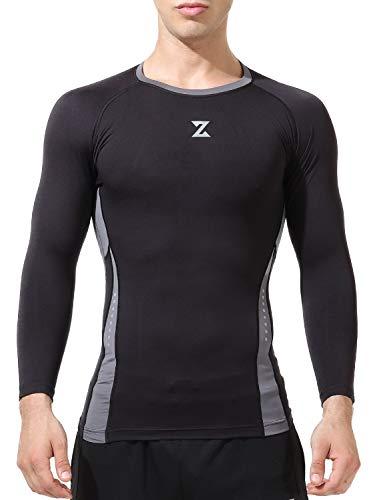 Azani Compression Dynamic Full Sleeve Performance Tops - Black/Grey, XXL