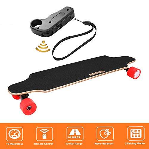 shaofu Electric Skateboard Youth Electric Longboard with Wireless Remote Control, 12 MPH Top Speed,