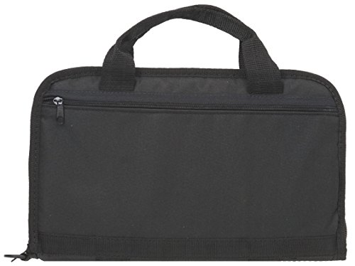 The Outdoor Connection Tactical Pistol Case with Interior Pocket, Black, 14-Inch