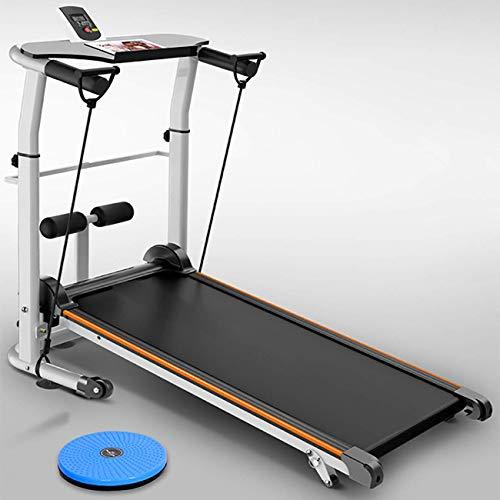 WYZXR Silent Walking Laufband Home Laufband Falten Multifunktionales mechanisches Laufband Mini Laufband Fitness Gewichtsverlust Trainingsgeräte