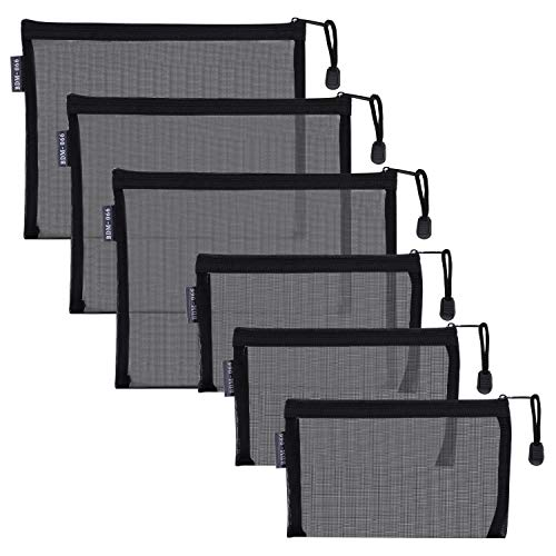HRX Package Nylon Mesh Cosmetic Zipper Bags,...