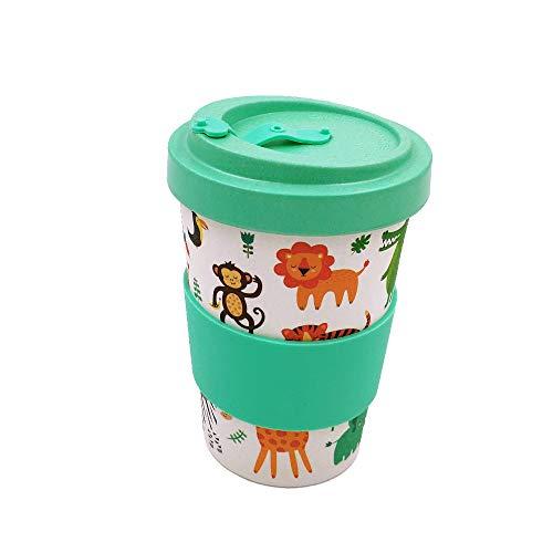 Taza para café de Fibra de bambú (Taza de café ecológica Reutilizable 420 ml, Hecha con Fibra de bambú Natural orgánica) (Esmeralda)