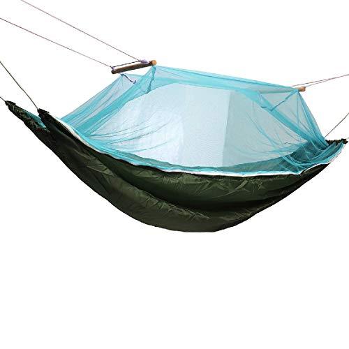 PQXOER Hamaca de camping hamaca al aire libre Camping cama de dormir portátil Carga máxima 150 kg con mosquitero Hamaca de viaje