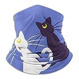 Sailor Moon Moon Kitties Microfiber Neck Warmer Seamless Face Mask Bandanas for Dust, Outdoors, Festivals, Sports Neck Gaiter