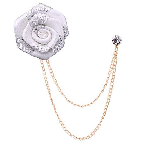 XZFCBH hoogwaardige mode pak reversspeldjes en broches bruiloft doek kunst stof bloem broche sieraden corsage mannen accessoires