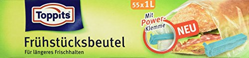 Melitta Toppits Fruehstueckseutel 1L 55er, 2er Pack (2 x 55 Stück)