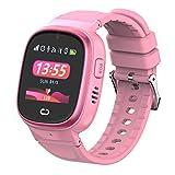 MY WATCH  Reloj GPS Niños 2.0 Smartwatch para Niños Color Rosa Resistente al Agua Pantalla Táctil Reloj Niño GPS Localizador y Llamadas, WiFi, LBS, Voz, Cámara, SOS Batería 520 Mah