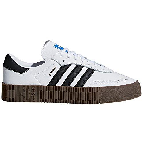 adidas Samba Blanca y Negra. Zapatillas para Mujer con Plataforma. Deportivas. Sneaker. (White/Black-Plataform 3cm, Fraction_39_and_1_Third)