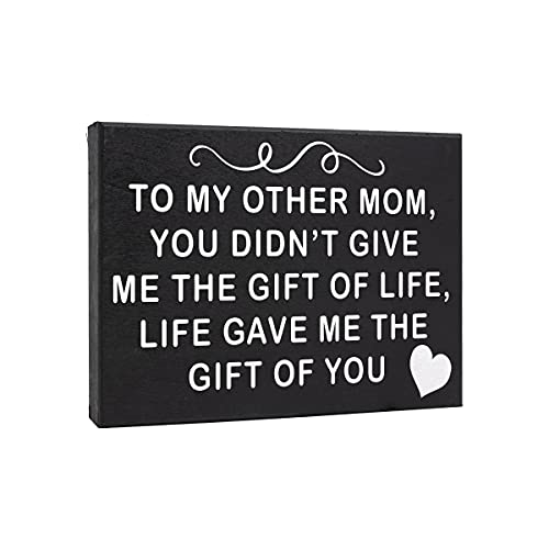 JennyGems to My Other Mom, You Didnt Give Me The Gift of Life, Life Gave Me The Gift of You - Real Wood Sign | Stepmom Gift | Bonus Mom | Mother in Law Gift| Made in USA | Box Sign