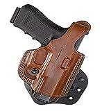 Aker Leather 268 FlatSider XR17 Paddle Holster for Glock 19/23, Tan, Right Hand