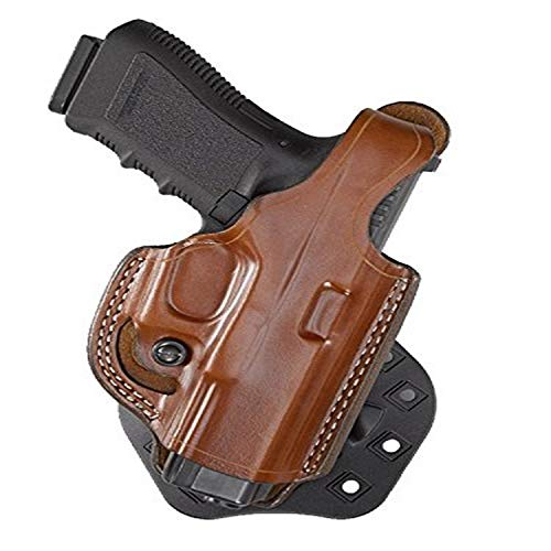 Aker Leather 268 FlatSider XR17 Paddle Holster for Glock 19/23, Tan, Right Hand