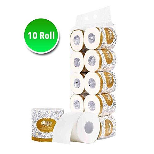 haodene 10 Stück Rollenpapier Baumwolle Weiches Toilettenpapier Badezimmer Toilettenpapier Geeignet für das tägliche Leben, Ideal für Toiletten, Küchen, Werkstätten oder Restaurants.
