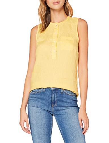 Tommy Hilfiger Damen Penelope Top Ns Hemd, Gelb (Sunray Zfb), 40 (Herstellergröße: 42)