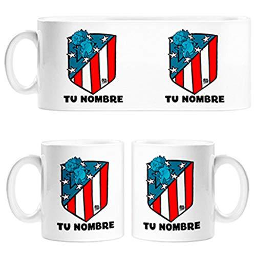 Diver Tazas Taza Atleti Nuevo Escudo Personalizable con Nombre ilustrado por Jorge Crespo Cano - Cerámica